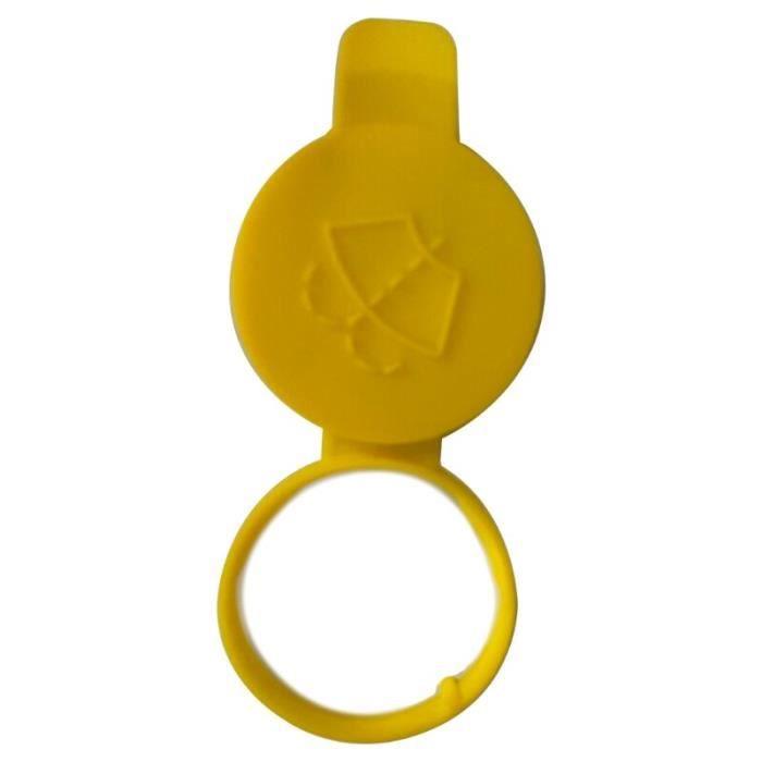 Couvercle de capuchon de buse jaune de bouteille de lave-glace de voiture-couvercle de bouchon de réservoir pour Saab 9-3 [5D4EED5]