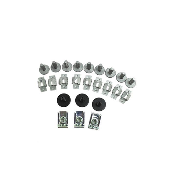 Kit de fixation Clips pour cache moteur Citroen C1 2005.9- Citroen C2 2003.1-2008.5 Citroen C3 Picasso 2008.10- Citroen C3 2010....