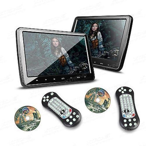 auto lecteur de DVD avec USB portable 2x 10 Zoll Kopfstütze HD Digital Bildschirm HDMI SD