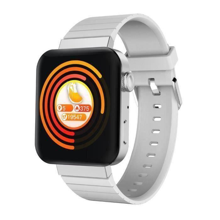 Montre Connectée Homme Femme MI5 Sport D 'appel Intelligent Bracelet Bracelet Bluetooth Intelligente Multi-fonctionnelle - Argent