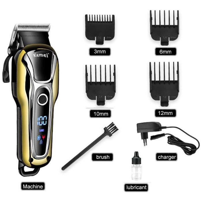 Tondeuse Cheveux Homme, Rasoir électrique sans Fil Rechargeable Rasoir Professionnel Tondeuse à Barbe toilettage Machine
