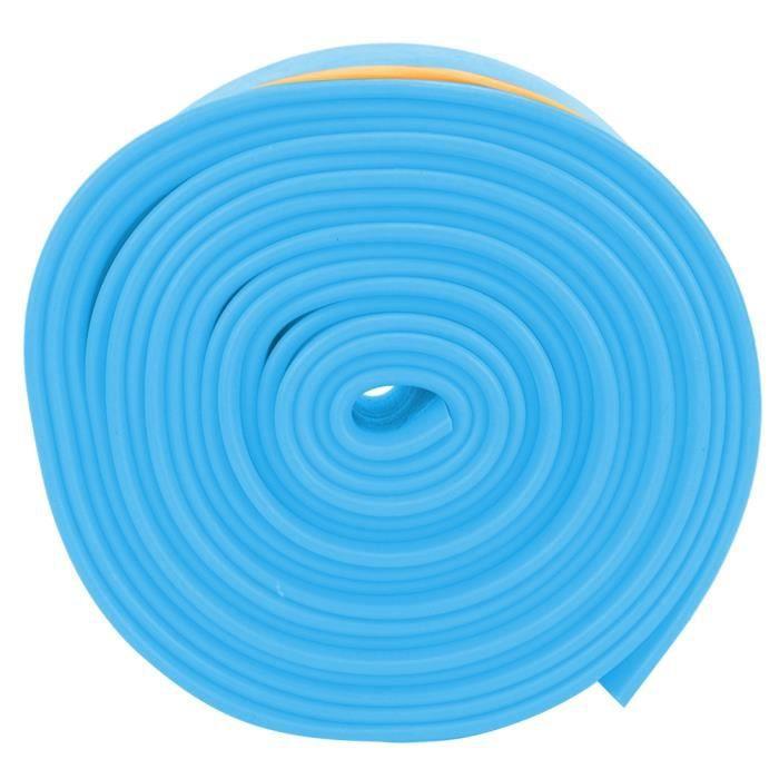 5cm 2.5m sangle de tension élastique ceinture de musculation résistante à l'étirement avec boucles pour femmes filles (bleu)-CHD