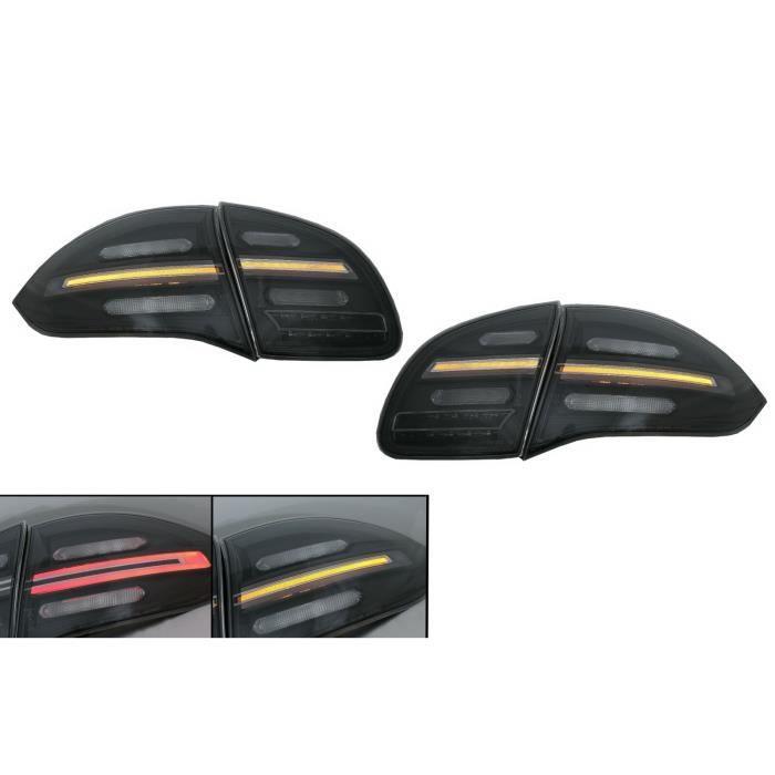 FullLED Feux arrières pour Porsche Cayenne 958 E2 92A 10-14 Noir Fumée Dynamique