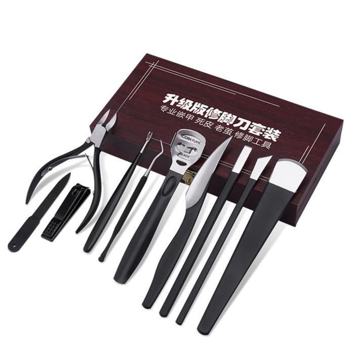 Kit de pédicure portable Pied Fichiers Set Outils Exfoliant Suppression de la peau morte Pied Outil de soins de la peau Set K-170