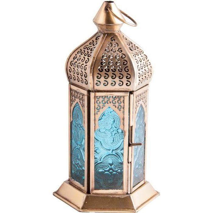 Lanterne orientale moment magique H : 17,5 cm l : 10,5 cm