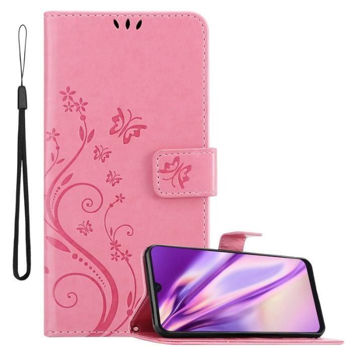 Cadorabo Coque pour Samsung Galaxy A30S / A50 S / A50 en Rose - Design floral