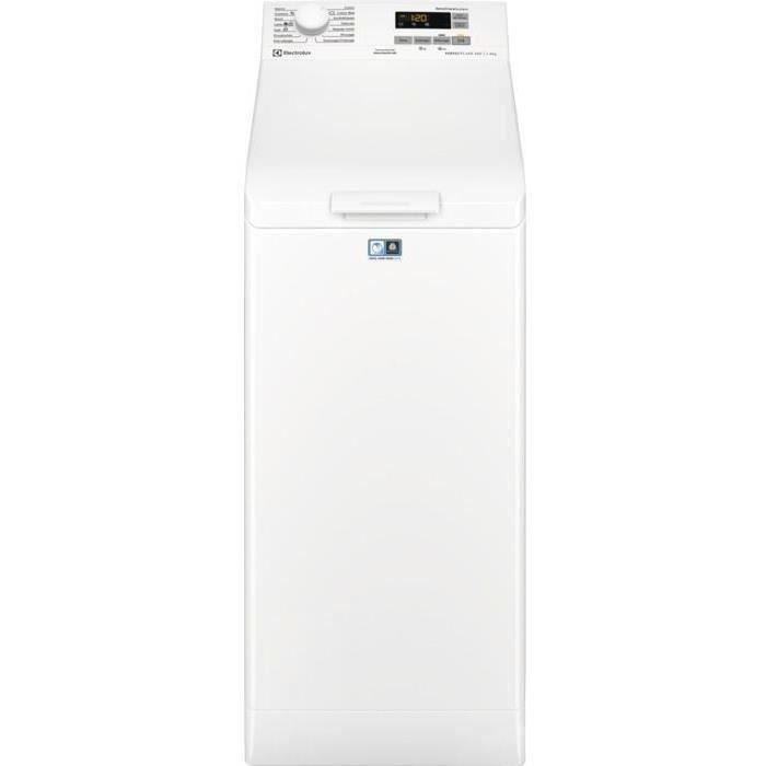 Lave-linge top ELECTROLUX EW6T3263EB - 6 kg - 1200 trs/min - Blanc