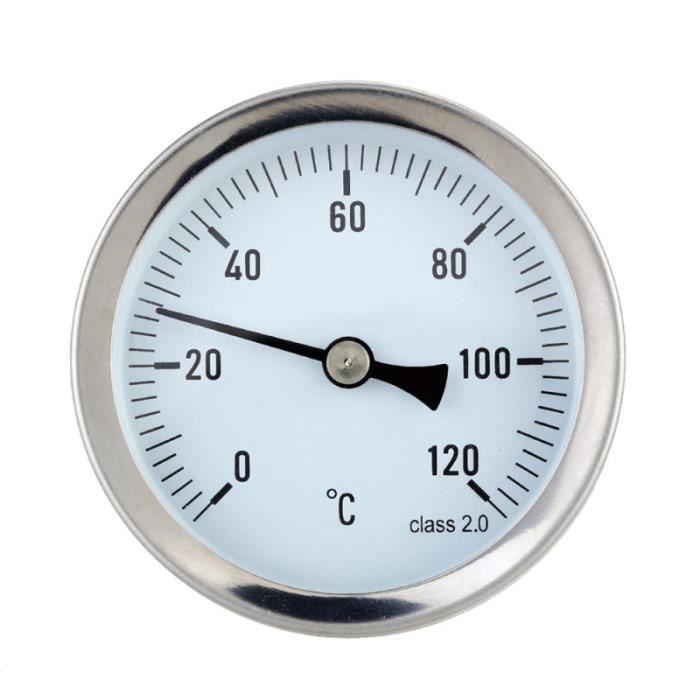 Thermomètre horizontal de micromètre de température en aluminium de haute précision de 63MM