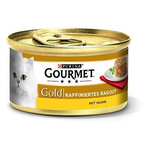 Gourmet Purina Gold raffiniertes ragout Chat Nourriture humide, pack de 12 (12 x 85 g), 12296238