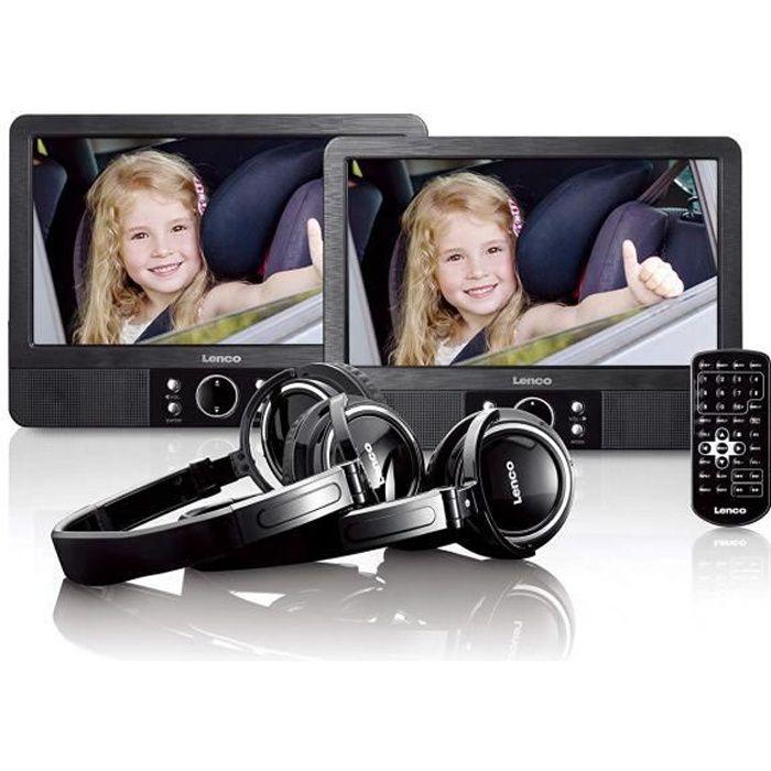 Lenco Lecteur DVD/Blu-Ray Portable Noir - Lecteurs DVD/Blu-Ray Portables (Noir) - MES-415