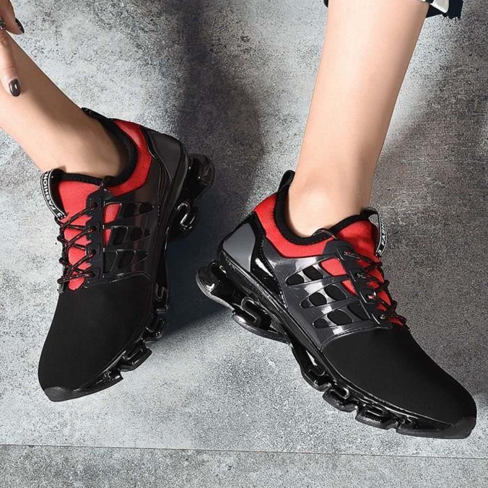 Hommes Chaussures de randonnée non-Slip Chaussures de marche Chaussures de plein air Loisirs Voyage hors route Chaussures 43 rouge