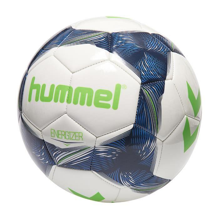 Ballon de football Hummel energizer - blanc/bleu indigo/vert - Taille 4