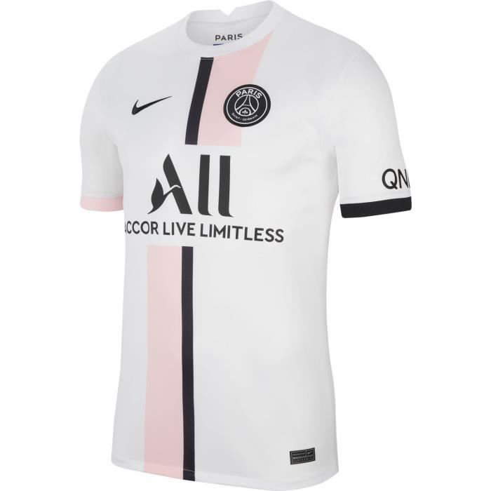 Maillot Nike Psg Exterieur 2021-22 blanc homme