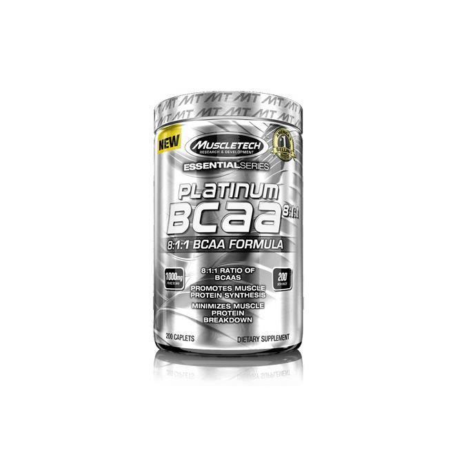 Acides aminés Muscletech Platinum BCAA 8:1:1 (200 capsules)