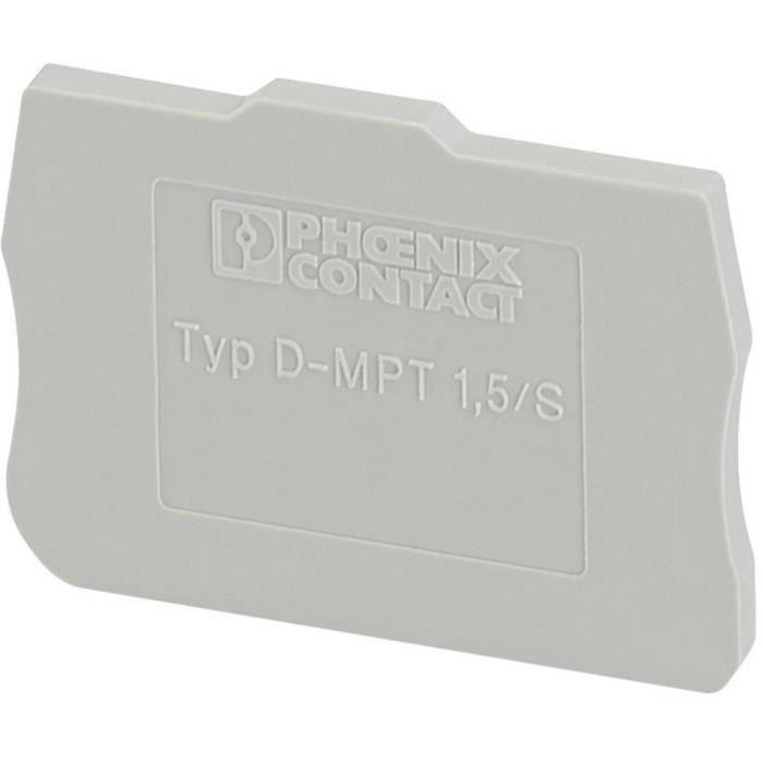 Flasque d'extrémité - D-MPT 1,5-S Phoenix Contact D-MPT 1,5-S 3248120 50 pc(s)