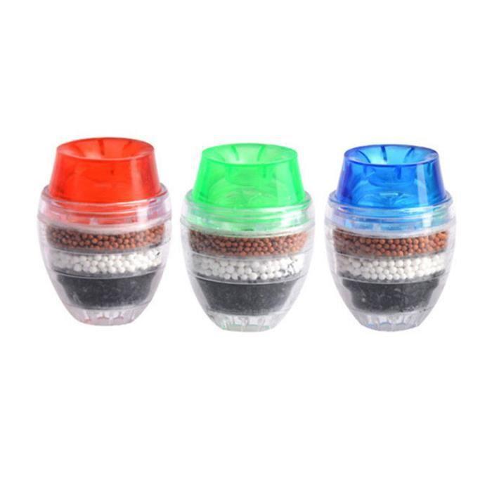 3 pièces filtre à eau charbon Mini cartouche robinet maison PVC Durable purificateur d'eau pour FILTRE POUR APPAREILS FROID