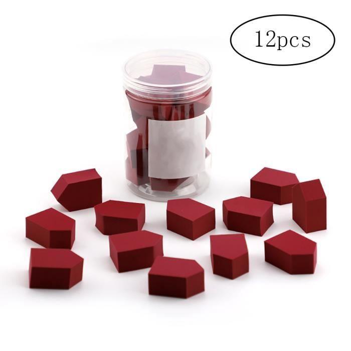12pcs - Set Maquillage Sponge Blender Beauty Foundation Mélange Éponge Éponges de maquillage multicolore pour la crème liquide et