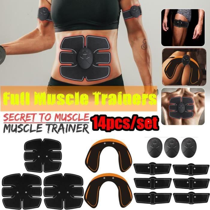 TEMPSA 14Pcs Appareil Abdo Musculation Fitness Hanche Fesse Levage Entraînement