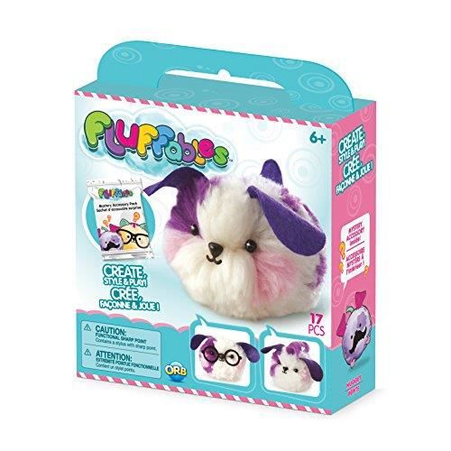 The Orb Factory Fluffables Nugget Arts & Crafts Purple-Pink-White 575 x 2 x 6