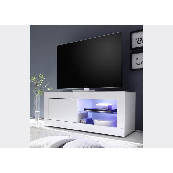 meuble tv laqu blanc tika 140 cm achat vente meuble. Black Bedroom Furniture Sets. Home Design Ideas