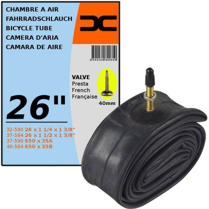 4/x Continental VTT 27,5/Valve Presta Chambre /à air pour VTT 650B/ /Livr/é sans bo/îte