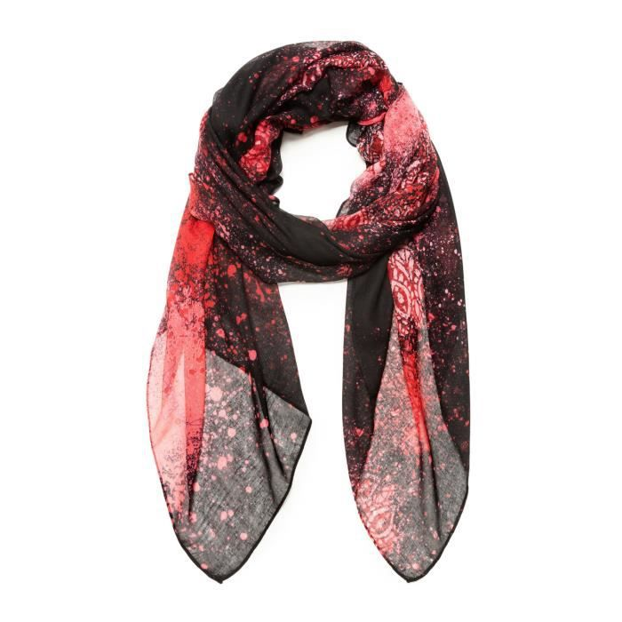 962aa66ba79 DESIGUAL FEMME 18WAWW16RED ROUGE POLYESTER FOULARD - Achat   Vente ...