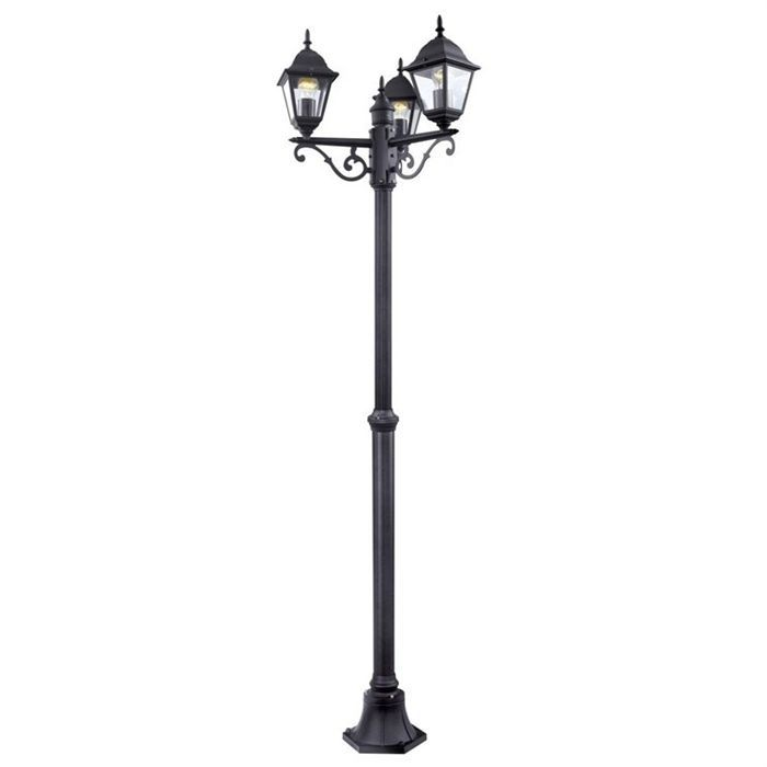 lampadaire ext rieur de jardin 3 tetes achat vente eclairages ext rieurs fonte d 39 aluminium. Black Bedroom Furniture Sets. Home Design Ideas