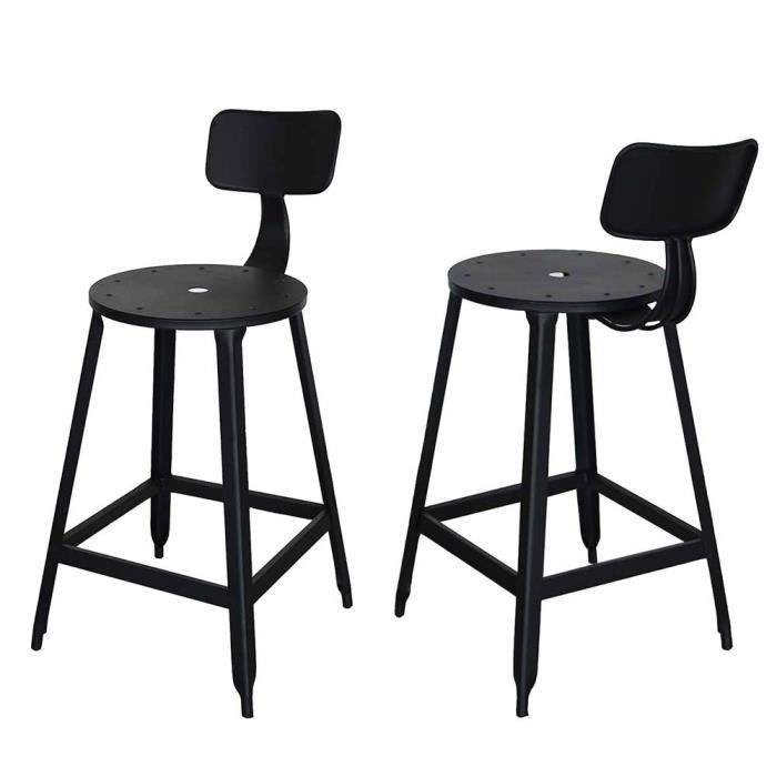tabouret style industriel tabouret de bar de style industriel en mtal en tissu tapiss canvas. Black Bedroom Furniture Sets. Home Design Ideas