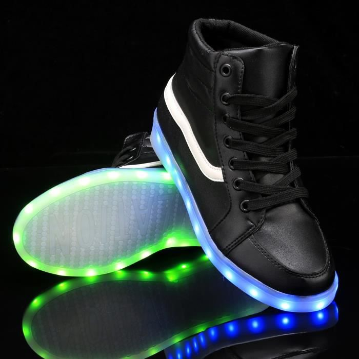 chaussures LED Lace Up baskets 38# tbwyx