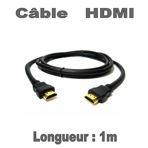 c ble hdmi 1m c ble tv vid o son avis et prix pas. Black Bedroom Furniture Sets. Home Design Ideas