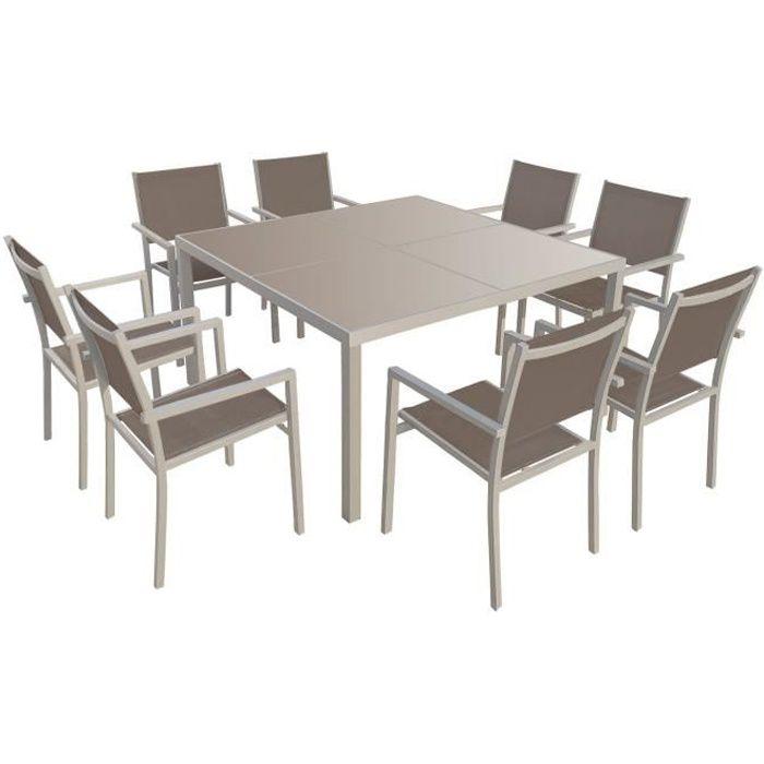 Table de jardin carree 8 personnes