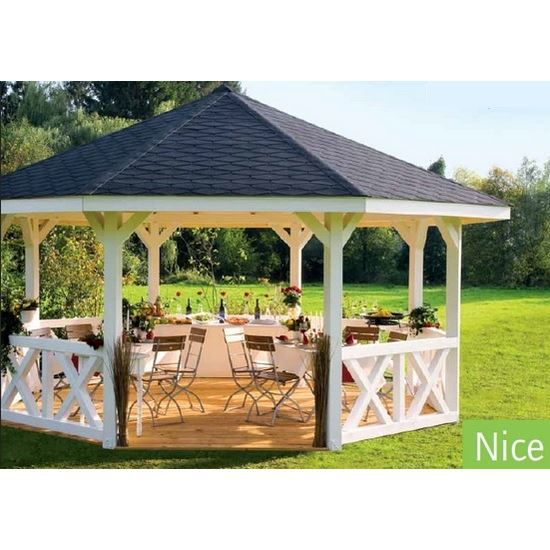pavillon de jardin en bois nice epaisseur potea achat vente kiosque gazebo pavillon de. Black Bedroom Furniture Sets. Home Design Ideas