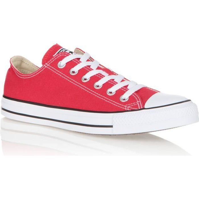 501e69c9d3f07 BASKET CONVERSE Baskets All Star OX Chaussures Mixte. Chaussures  multisports de coloris Rouge ...