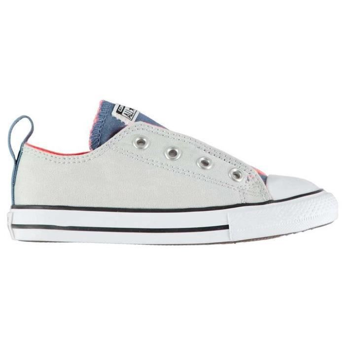 aa465fc6373ec CONVERSE ALL STAR ENFANT SIMPLE SCRATCH SANS LACET Bleu BLEU - BLANC ...