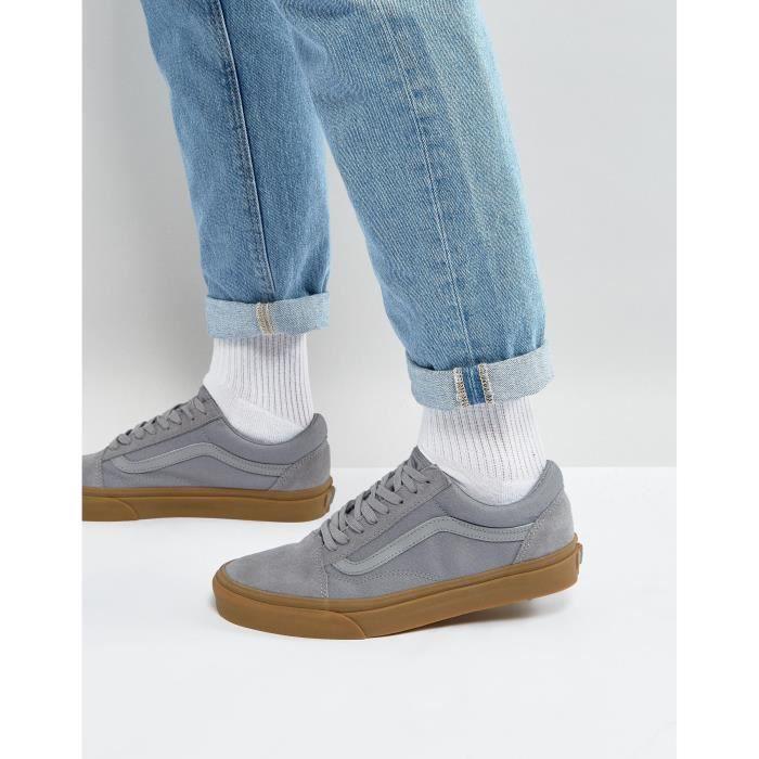 Vans Old Skool Baskets homme Avec semelle de gomme en gris ...
