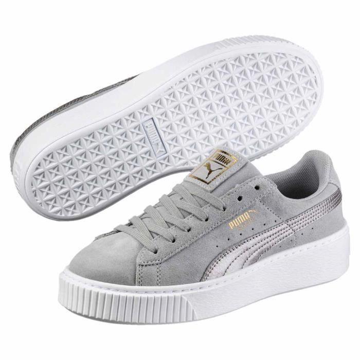 baskets puma femme gris