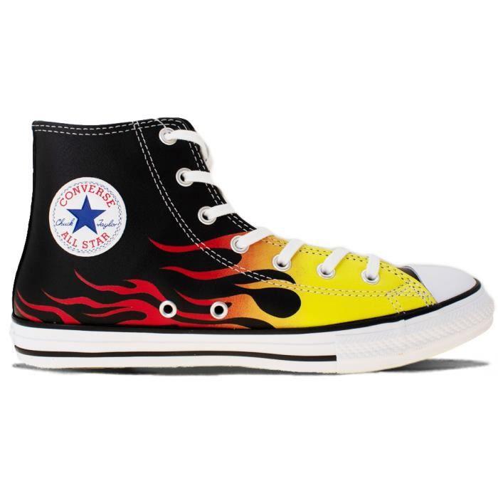 chaussures converse avec flammes