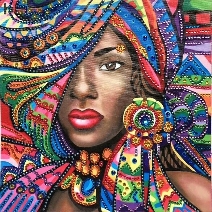 recherche tableau femme africaine
