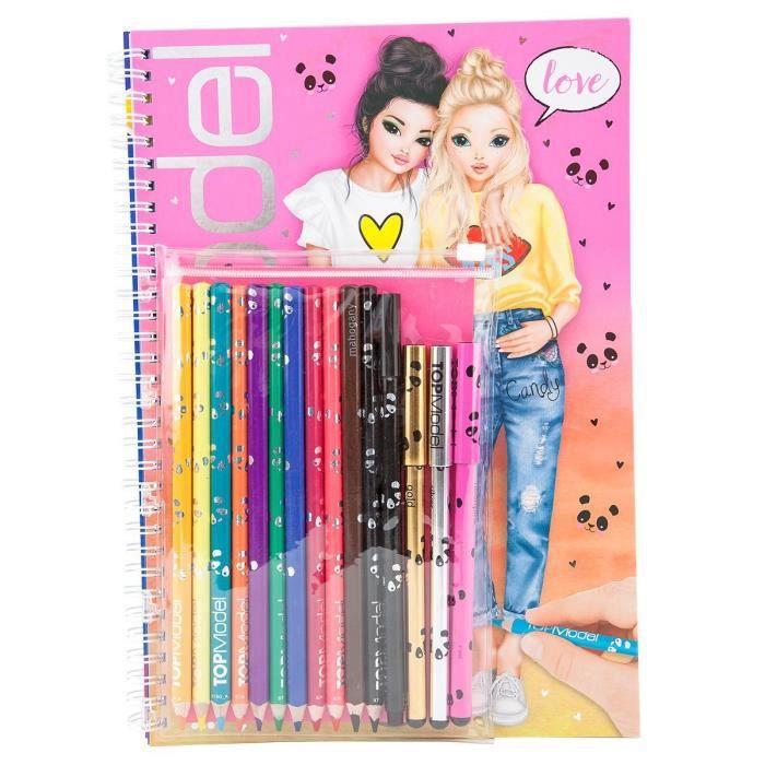 Livre A Colorier Topmodel 8760 Avec Crayons Kit