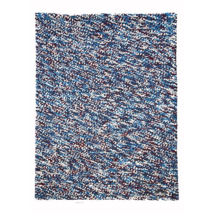 Grand tapis pour salon pixels bleu 170x240 par trinity for Grand tapis salon moderne