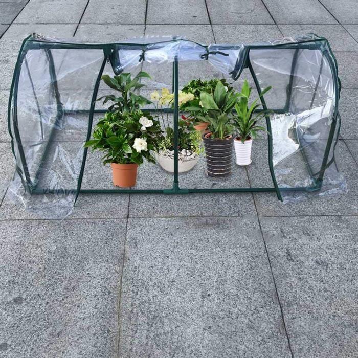 Mini Serre de Jardin Tunnel, Petite Serre Maison de Fleurs Isolation Pluie  Auvent Couvercle Plantes Tente Abri en Plastiq