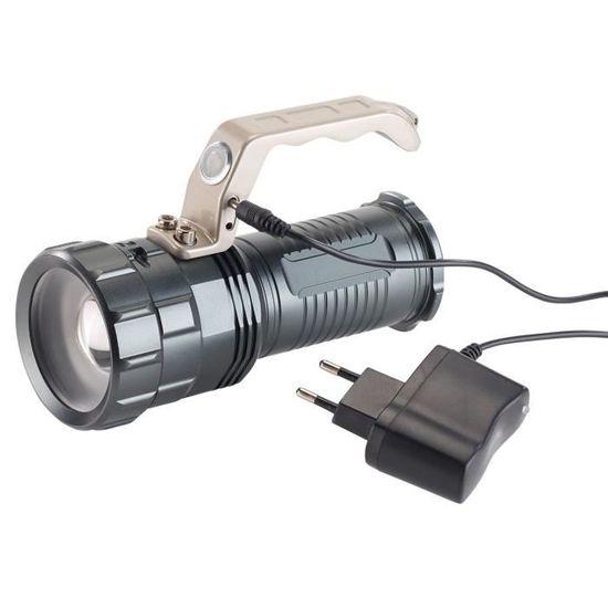 Torche Lampe de Poche LED USB Rechargeable Puissante 20000 Lumens Tactique Ultra Puissante Militaire Zoomable 3 Modes Eclairage pour Camping Randonn/ée Durgence