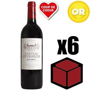 VIN ROUGE X6 Château Peyrabon 2002 75 cl AOC Haut Medoc Roug