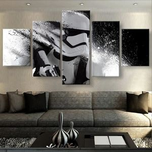 toile 5 pieces star wars achat vente toile 5 pieces. Black Bedroom Furniture Sets. Home Design Ideas