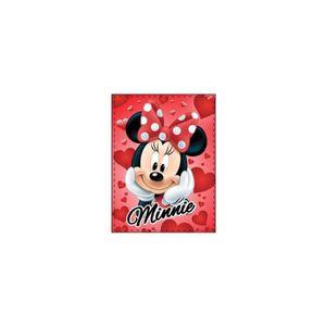 COUVERTURE - PLAID Plaid Disney Minnie coeur rouge.