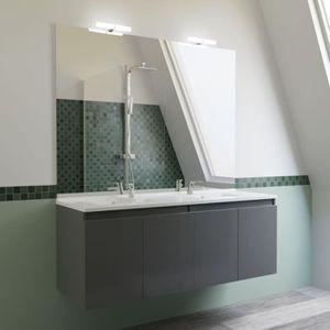 Meuble salle de bains double vasque gris