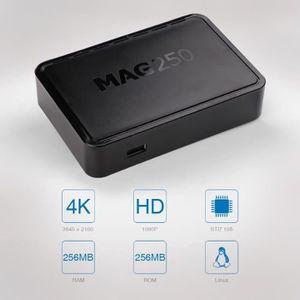 BOX MULTIMEDIA KIN MAG 250 IPTV Décodeur numérique Linux HD Lecte