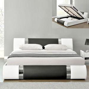 STRUCTURE DE LIT Lit coffre design ATLANTIC - 160x200