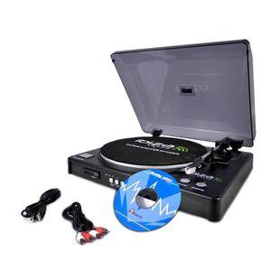 PLATINE VINYLE PLATINE-DISQUES USB-SD Fonction d'enregistrement