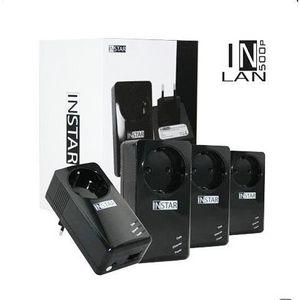 COURANT PORTEUR - CPL INSTAR 4 Adaptateurs CPL IN-LAN 500P 500Mbps Noir